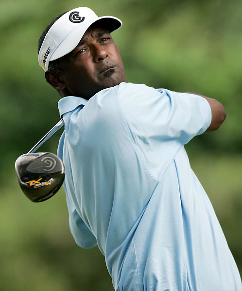 Vijay Singh opened with two early bogeys, but he rebounded with three birdies to shoot a 69.
