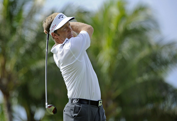Stuart Appleby made an eagle and a birdie near the end of his round to finish with a 6-under 64.