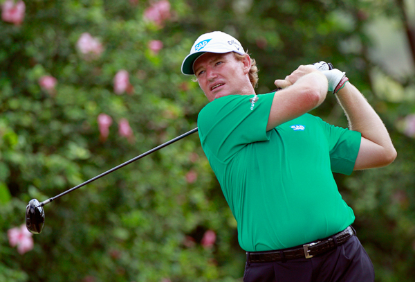Ernie Els made four birdies and four bogeys in the first round.