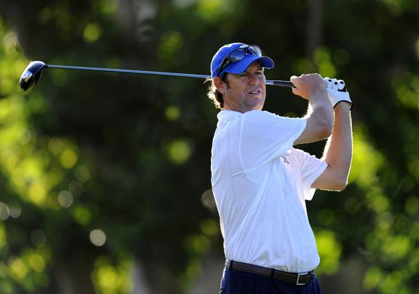 Former Ryder Cup captain Paul Azinger shot a 2-under 68.