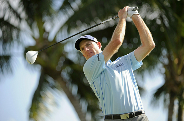 Jim Furyk missed the cut by two strokes.