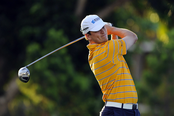 Zach Johnson made an eagle on No. 9 to shoot a 1-under 69.