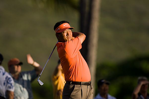 K.J. Choi made three birdies and two bogeys for a 69.