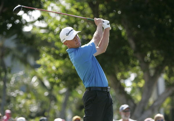 Nathan Green made an eagle on 18 to shoot a five-under 65.