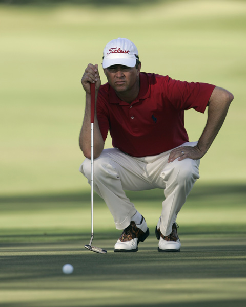 Davis Love III made two birdies and no bogeys to finish at eight-under par.