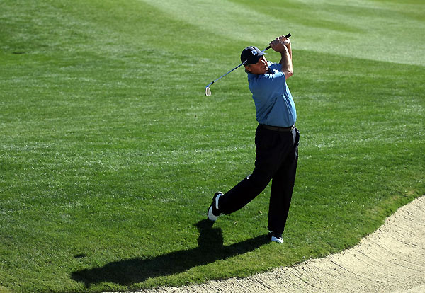 Fred Couples opened with two early bogeys but recovered to shoot a 71.