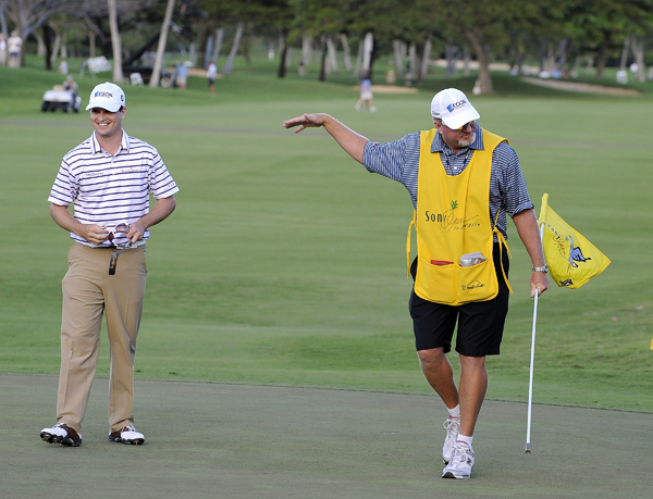 Johnson's caddie, Damon Green, caps each victory with a dance.
