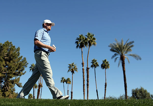 Round 3 of the Bob Hope Classic                   D.J. Trahan made seven birdies and three bogeys for a 68.