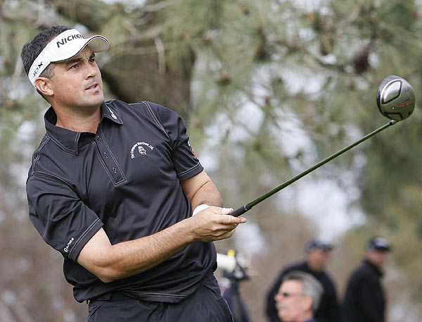 Brad Adamonis is one stroke off the lead at six under par.