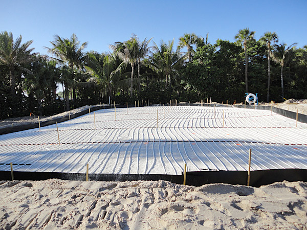 All greens are equipped to use SubAir, which moves air through the green profile to improve maintenance conditions. One green uses hydronics, which is a tubing system that heats or cools the temperature of the green and can be used as an aid to improve ground conditions during extreme weather.