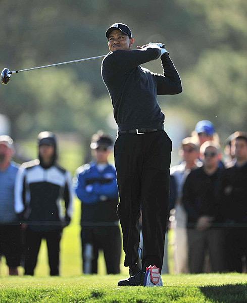 Tiger Woods made his season debut Thursday at the Farmers Insurance Open at Torrey Pines, shooting a three-under 69.