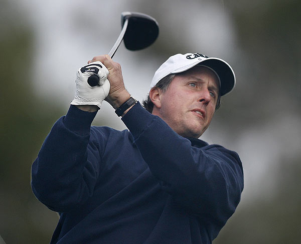 Phil Mickelson opened his final round with two birdies. He finished at six under par.