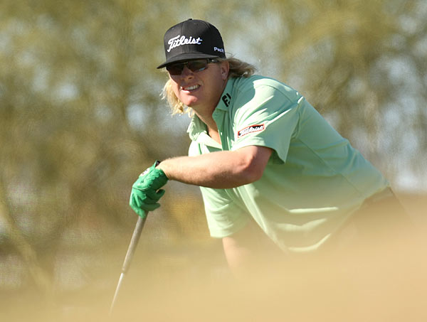 Charley Hoffman is one stroke off the lead after a bogey-free 66.