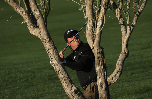 Phil Mickelson missed the cut in his season debut, shooting 73 in the second round.