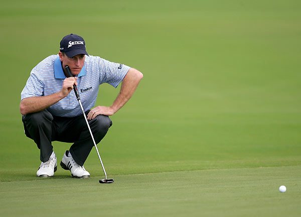 Kapalua resident Jim Furyk tied the low round of the week with a seven-under 66.