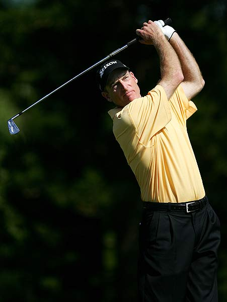 Jim Furyk had five birdies and no bogeys in his final round. He finished four strokes off the lead.