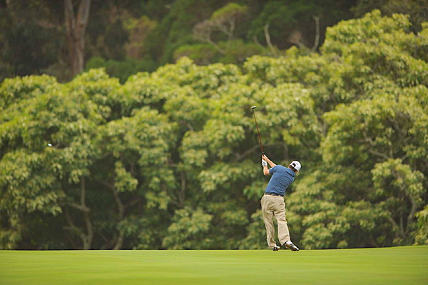 Tim Clark is six shots off the lead after finishing with a 72.