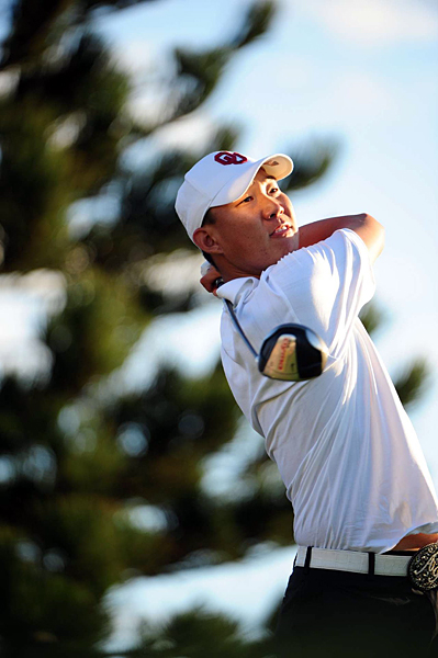 Anthony Kim had back-to-back bogeys on 12 and 13. He finished at two under par.