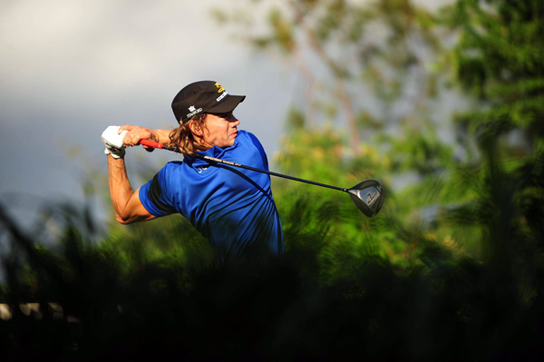 Camilo Villegas is going for his third straight PGA Tour victory. He is at one over par.