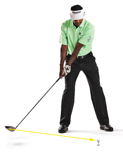 "I ALWAYS DO THIS...                     I've always tried to keep the clubface ""looking"" at the ball until I hinge the club up with my wrists. It's a good way to keep your clubhead on plane and avoid changing the position of the clubface."