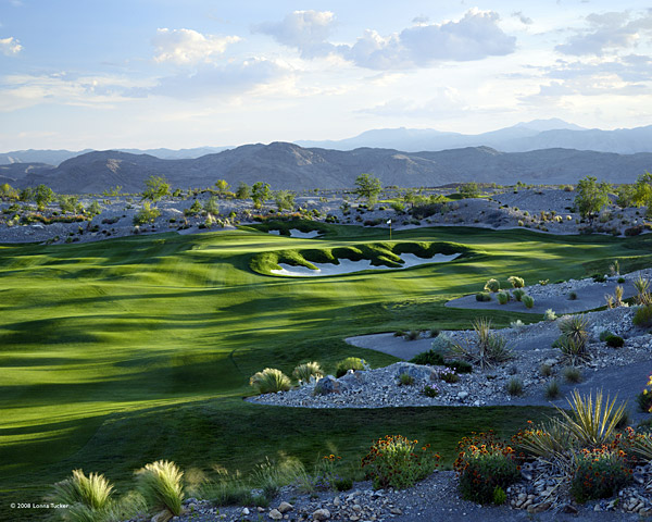 3. The Chase at PGA Golf Club Coyote Springs                       Coyote Springs, Nev.                       7,471 yards, par 72; Green fees: $120-$200;                       877-742-8455; coyotesprings.com                                              The 50-mile trek north from Las Vegas to Coyote Springs is                       so desolate that you're likely to encounter more coyotes than                       people. Jabbed into an arid site ringed with mountains, this                       Jack Nicklaus track kick-starts one of the most ambitious golf                       development projects ever. Plans call for at least 10 courses                       and 150,000 residents, but for now this course is all you'll find.                       Fortunately, it's good enough to justify the drive, with some of                       the most artfully crafted bunkers and greens of Jack's career.                       The Chase is a monument to thoughtful shotmaking. Water                       affects play on more than half the holes, notably the 9th and 18th,                       a pair of beefy par 4s. But it's the firm, fast fairways and speedy                       green complexes that will most determine your final tally.