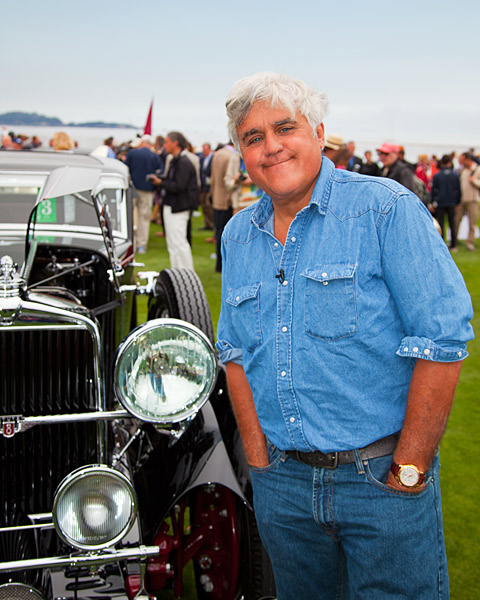 Well-known car fanatic Jay Leno is a regular at the Concours.