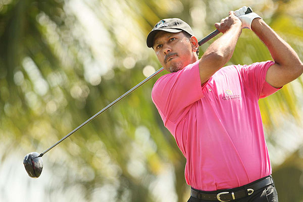 Jeev M. Singh finished alone in fourth, five strokes off the lead.