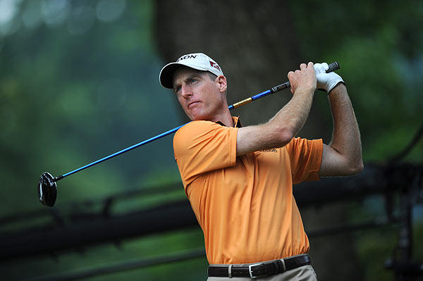 An early triple bogey on the par-4 sixth dropped Jim Furyk out of contention. He shot 72.