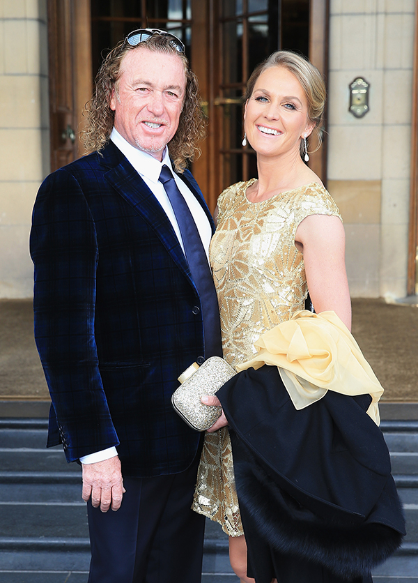 Europe team vice captain Miguel Angel Jimenez and wife Susanne Jimenez pose before leaving for the 2014 Ryder Cup Gala Dinner at Gleneagles Hotel on Sept. 24, 2014 in Glasgow, Scotland.