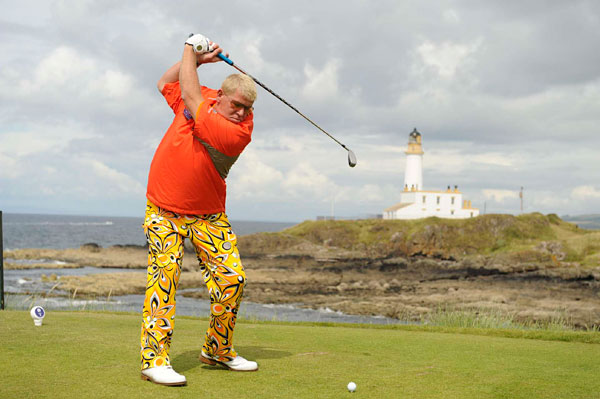 John Daly made a strong, and bright, showing at Turnberry, topped off with an eagle on the par-5 17th on the final day. He finished T27.