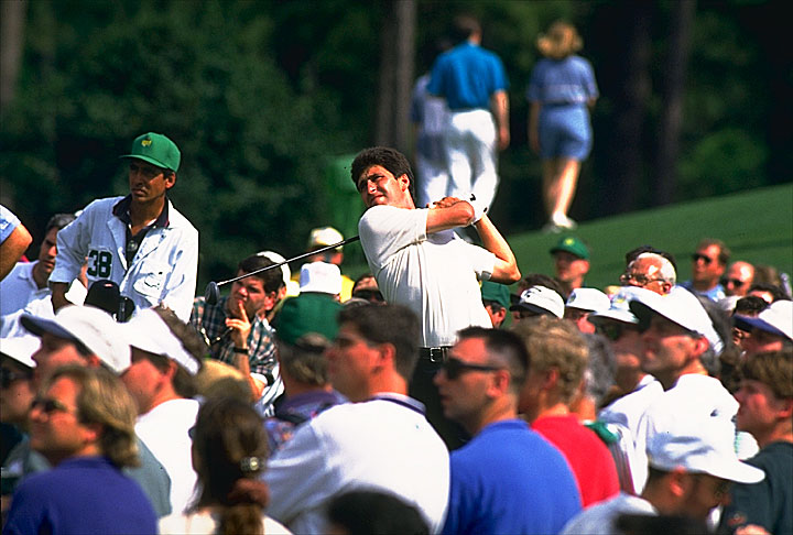 After opening with a 74, Jose Maria Olazabal finished 67-69-69 to win his first green jacket in 1994.