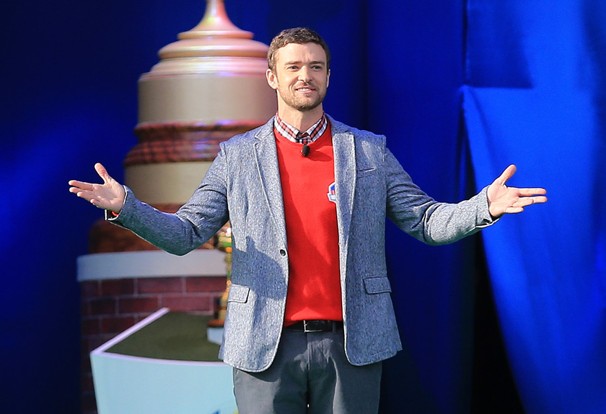 "Justin Timberlake                       We are glad that one of the biggest entertainers in the world is a golf nut, but we're still baffled by the cringe-worthy golf poem that Timberlake read during the opening ceremony at the Ryder Cup. It included such lines as ""It can be as sweet and passionate as your lover on a warm summer night"" and ""Oh, this game! It is never, ever the same from day to day!"" Take that, Jim Nantz!"