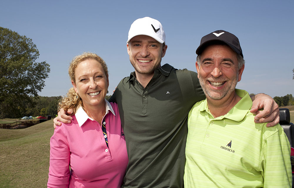 "Timberlake, with his mom, Lynn Harless, and stepdad, Paul Harless, saved his home course in Memphis from being sold to developers. Timberlake named the course Mirimichi, a Native American word for ""place of happy retreat."""