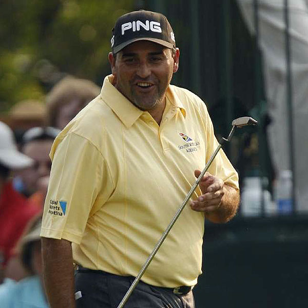 "2. ANGEL CABRERA                                              WORLD RANK 18th                                              Angel's nickname is                       the Duck, but I think of                       him as the Gorilla. He's                       stocky and has this freaky strength                       because he doesn't look as if he's                       swinging hard, but his shots                       go eight miles. It's neat to                       watch — unless you're trying                       to beat him... Angel doesn't                       get much attention because he's                       a quiet guy from Argentina who                       won't speak English. If he were an American, he'd be a household                       name... This man was no fl uke winner at the Open. He had                       come close before in majors, notably last year at Royal Liverpool,                       and has put up some good rounds in Augusta... At Oakmont,                       I loved it when he hit that shot close at 15 and his reaction was,                       ""Oh, man, I think I just won the Open!""                                              LAST SHOT Don't try for me, Argentina, but back-to-back                       Open titles, while unlikely, is possible."