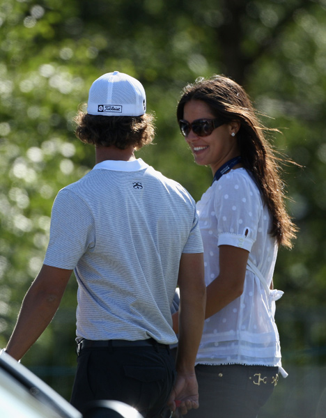 Scott was again spotted with tennis star Ana Ivanovic.