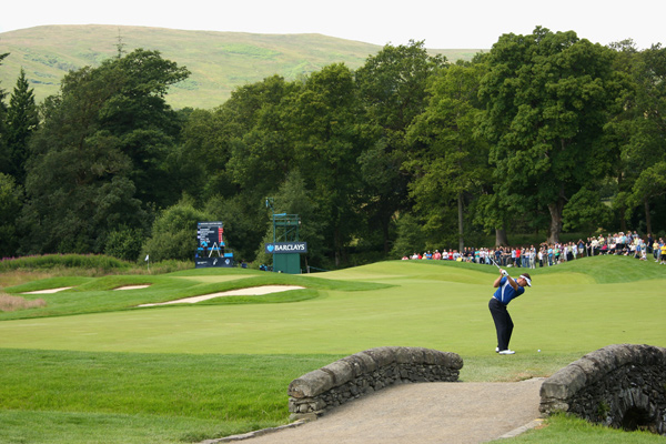 Lee Westwood moved into contention with a 64.