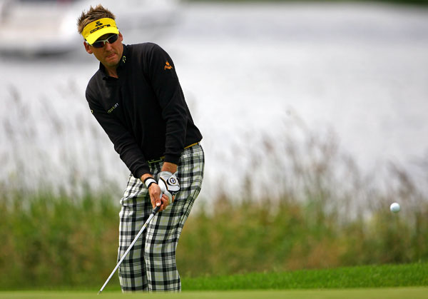 Ian Poulter finished the day three strokes behind the leaders.