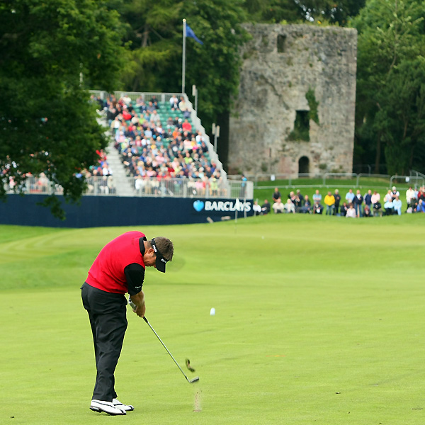 Lee Westwood matched Mickelson with a bogey-free 65.