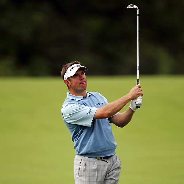 Lee Westwood held a share of the lead Thursday, but he fell down the leaderboard after a three-over 74.