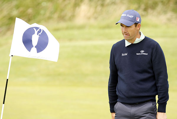 Defending champion Padraig Harrington only played nine holes due to an injured wrist.