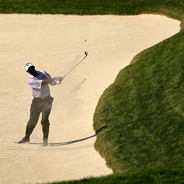 Oakmont got the best of Vijay Singh Friday. Singh shot a seven-over 42 on the front nine, his back nine, to shoot 77.