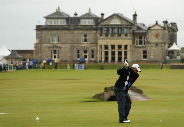 is now on the Champions Tour, but he's in the hunt at St. Andrews after a bogey-free 67 to pull into solo second place.