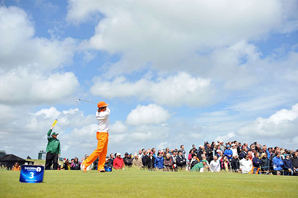 Rickie Fowler tied for fifth for his best finish in a major so far in his young career.