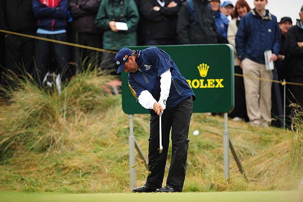 With another round of 77, Angel Cabrera will not be playing the weekend at Royal Birkdale.