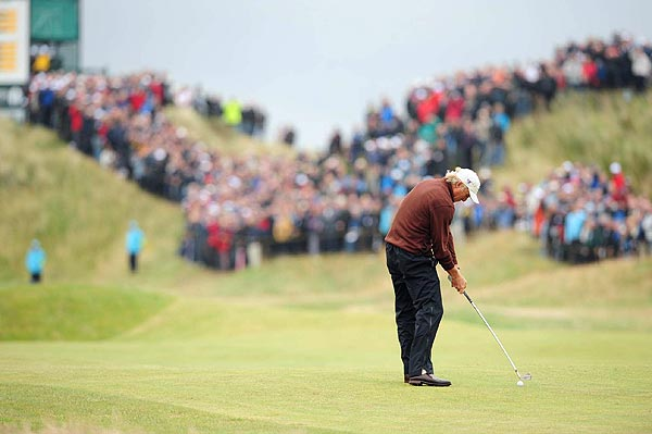 Greg Norman had another solid round on Friday, shooting 70 to remain at even par.