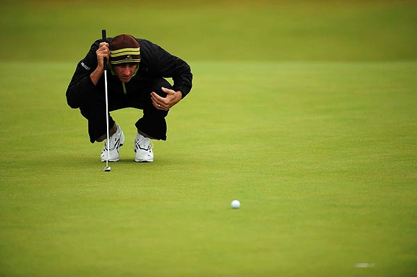 Geoff Ogilvy's second round, which included two double bogeys, left him at 11 over par and out for the weekend.