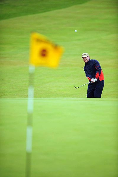 Tom Watson had back-to-back bogeys on Nos. 7 and 8.