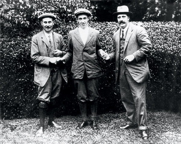 Ted Ray, right, 43: Won the 1920 U.S. Open.