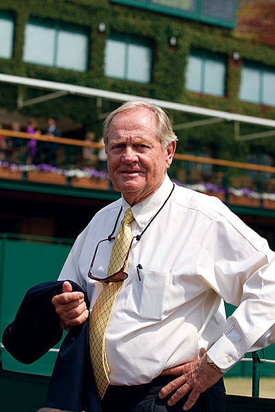 was spotted on Thursday before taking in the women's semifinal matches.Jack Nicklaus watched the women's semifinal matches.