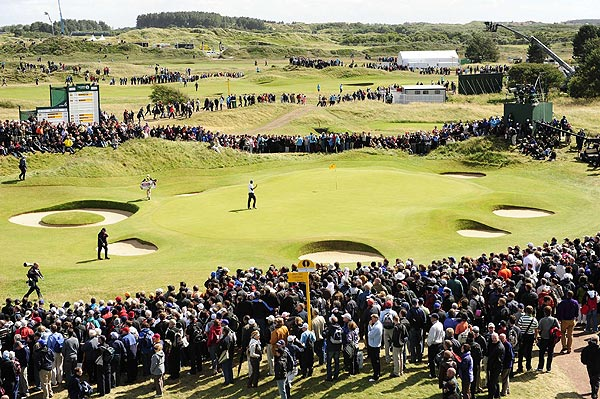 Large crowds followed the final pairing of Norman and Harrington.